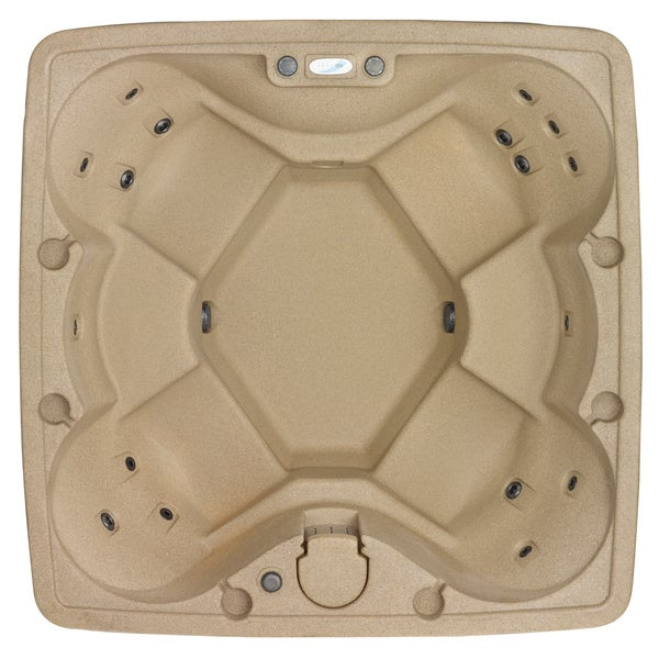 AquaRest AR-600 6 Person 18 Jets with Easy Plug N Play and LED Waterfall - Sandstone
