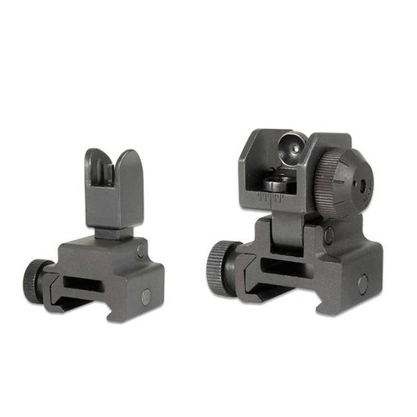 GMG AR15/M4 Front and Rear Flip-Up Sight Combo