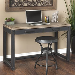 Heritage Weathered Rubberwood And Mdf Writing Desk