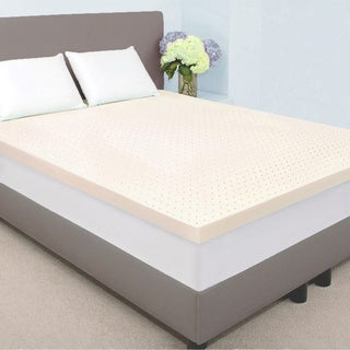 Dream Form Plus Ventilated 3-inch 5-pound High Density Queen/ King-size Memory Foam Mattress Topper