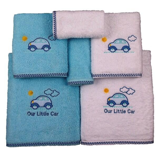 Lucia Minelli Car Embroidered Luxury Turkish 6-piece Towel Set