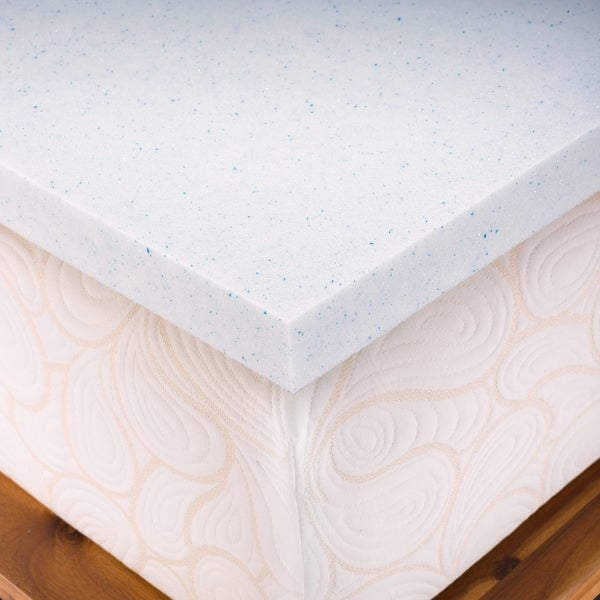 Authentic Comfort DORM TwinXL 2-inch Gel Memory Foam Mattress Topper with Cooling Cover