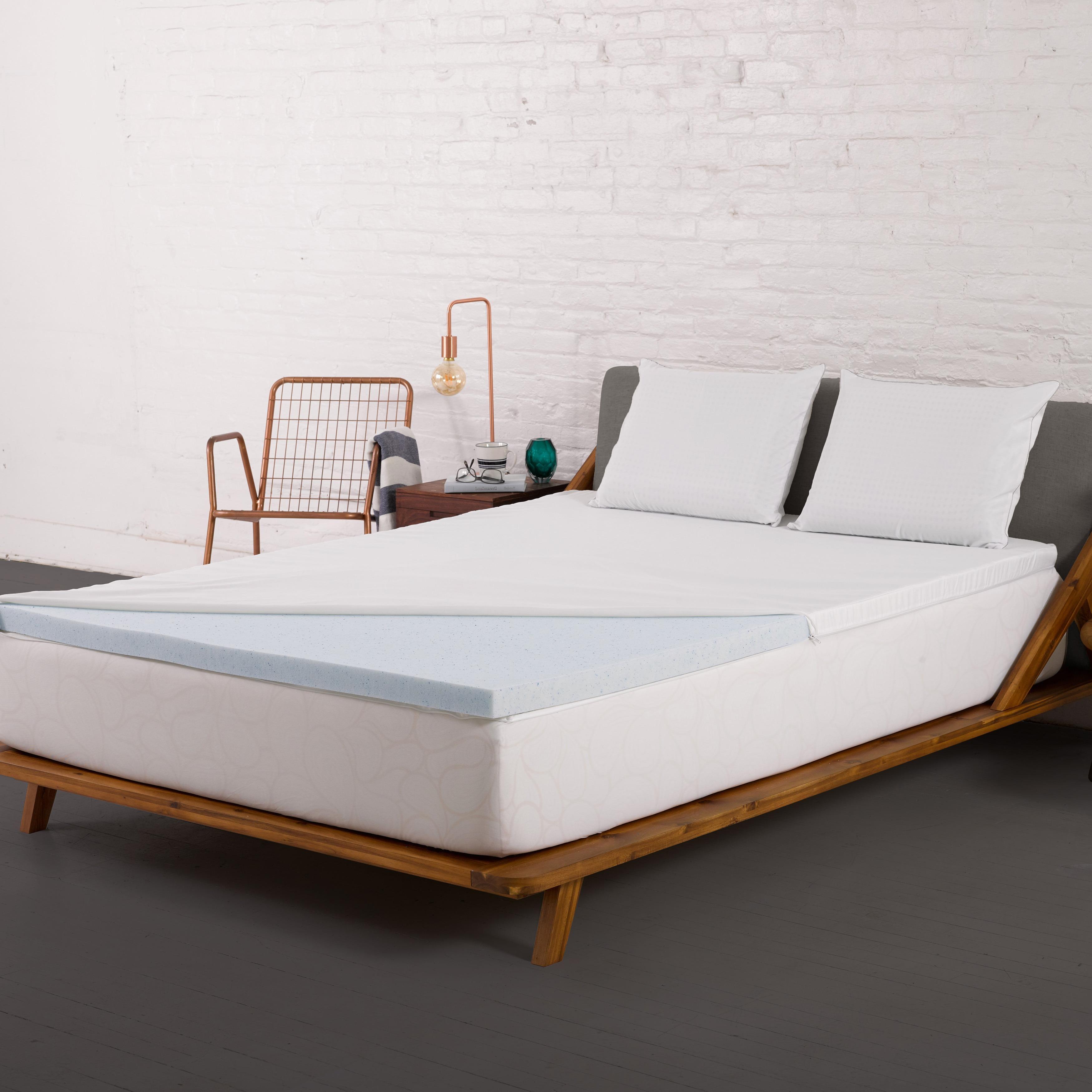 Authentic Comfort 2-inch Gel Memory Foam Mattress Topper ...