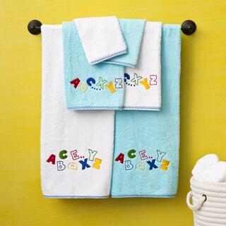 Lucia Minelli Alphabet Embroidered Luxury Turkish 6-piece Towel Set