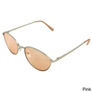 Apopo Eyewear Men's Retro Oval Sunglasses