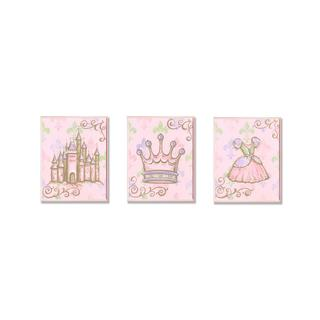 Castle, Crown & Dress Wall Art Plaques (Set of 3)
