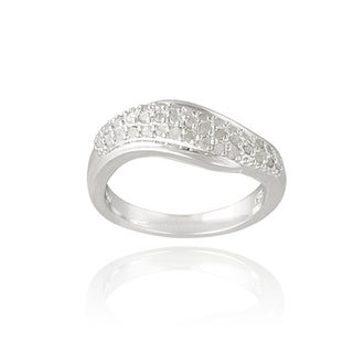 DB Designs Silvertone 1/3ct TDW Diamond Wave Ring (I-J, I2-I3)