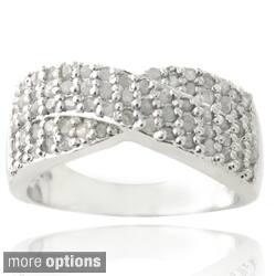 DB Designs Silvertone 3/4ct TDW Diamond Crossover Ring https://ak1.ostkcdn.com/images/products/7986947/DB-Designs-Silvertone-3-4ct-TDW-Diamond-Crossover-Ring-I-J-I2-I3-P15354851c.jpg?impolicy=medium