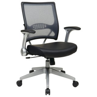 Black Bonded Leather Seat Office Chair