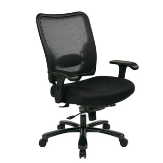 Double MeshBig & Tall Back and Black Mesh Seat Ergonomic Chair
