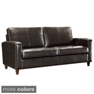 Eco Leather Sofa Chair with Espresso Finish on Legs