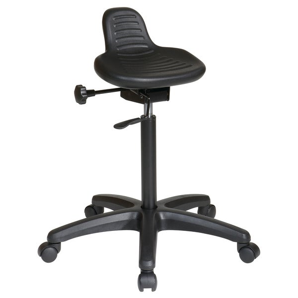 Saddle Seat Stool with Seat Angle Adjustment and Glides