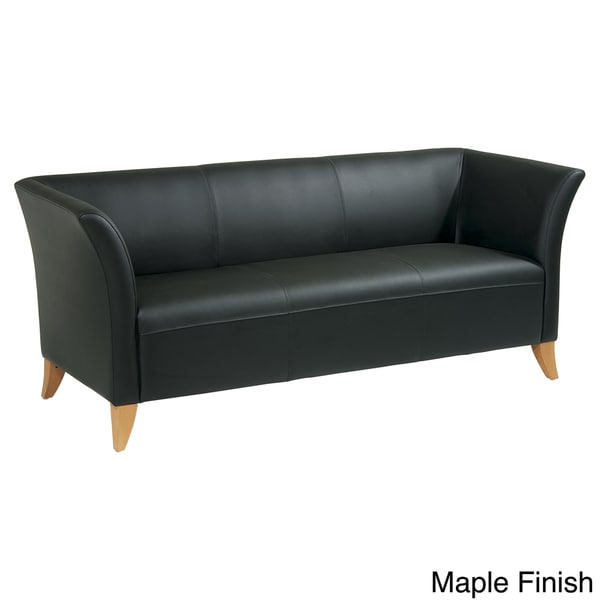 office star products leather sofa black leather sofa office