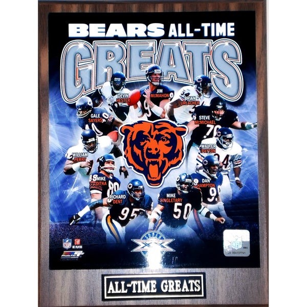 Chicago Bears 'All Time Greats' Plaque