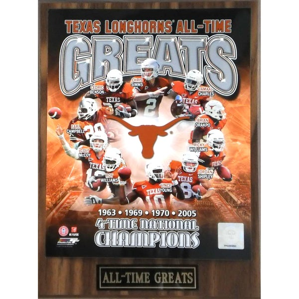 Texas Longhorns 'All Time Greats' Plaque