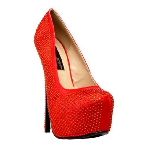 40ff12497b4d Shop Women s Highest Heel Bombshell-31 Red Satin Genuine - Free Shipping  Today - Overstock - 7987519