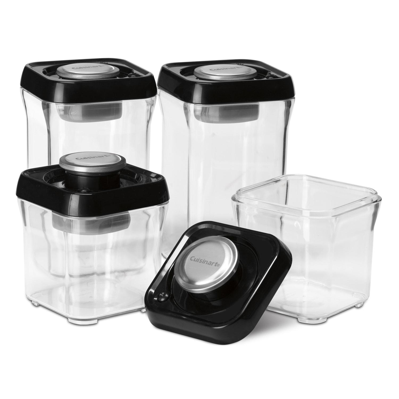 Fresh Edge 8-Piece Vacuum Sealed Food Storage Containers ...