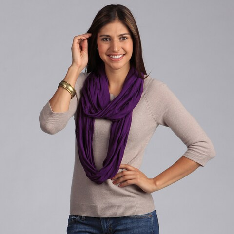 Peach Couture Purple Infinity Loop Scarf