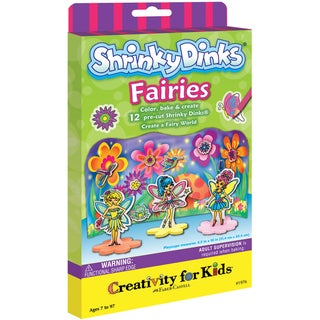 Creativity For Kids Activity Kits-Shrinky Dinks Fairies (makes 12)