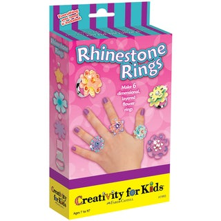 Creativity For Kids Activity Kits-Rhinestone Rings (makes 6)