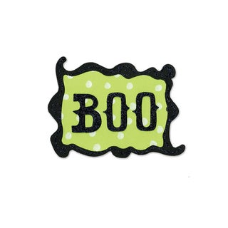 Sizzix Phrase, Boo with Frame by Brenda Pinnick Originals Die
