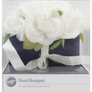 """Wedding Bouquet 8-1/2""""Diameter-French Rose Natural Color"""