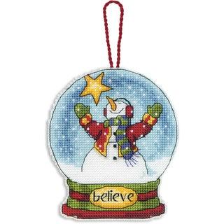 Believe Snowglobe Counted Cross Stitch Kit