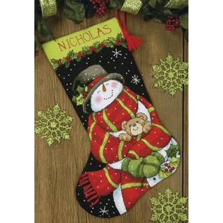 Dimensions Snowman & Bear Stocking Needlepoint Kit
