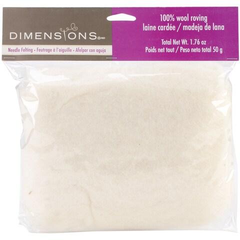 Feltworks 1.76-ounce White Bulk Roving