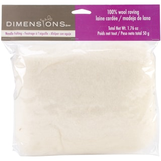 Feltworks 1.76-ounce White Bulk Roving