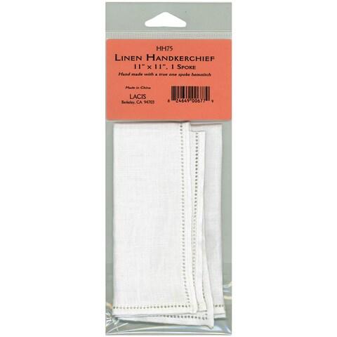 """Linen Handkerchief 11""""X11"""" Single Spoke"""