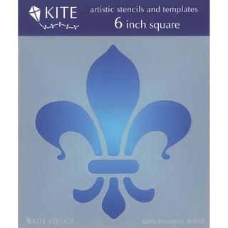 Judikins 6 Inch Square Kite Stencil-Fleur De Lis