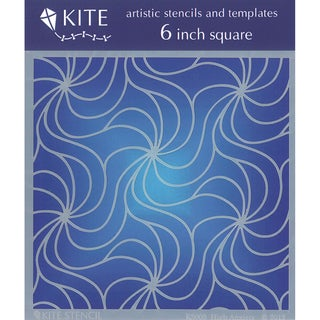 Judikins 6 Inch Square Kite Stencil-High Anxiety