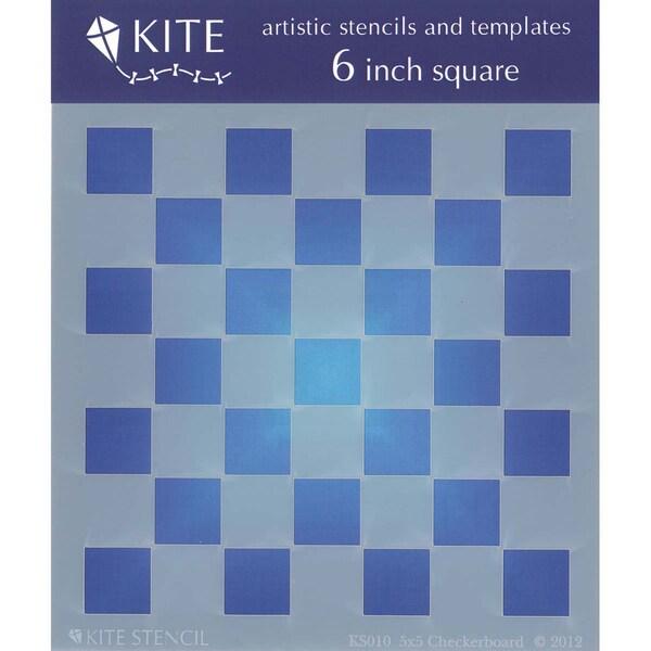 Judikins 6 Inch Square Kite Stencil-Checkerboard 5x5