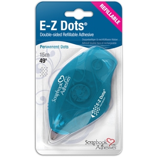 EZ Dots Refillable Dispenser W/Permanent Adhesive 49ft-Permanent
