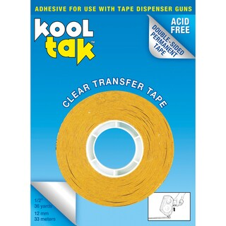 Kool Tak Dispenser Tape .5in X 36yds-Permanent, Clear
