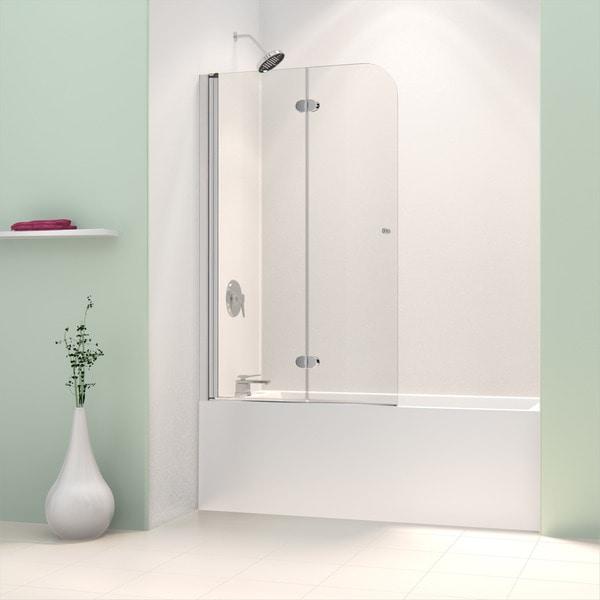 Dreamline Aqua Fold 36 Inch Frameless Hinged Tub Door