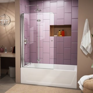 DreamLine Aqua Fold 36-inch Frameless Hinged Tub Door