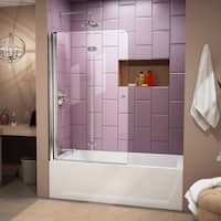 DreamLine Aqua Fold 36 in. Frameless Hinged Tub Door