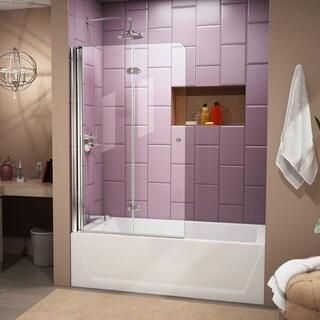 DreamLine Aqua Fold 36 in. Frameless Hinged Tub Door