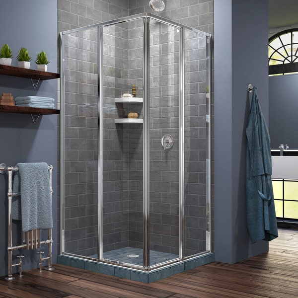 x corner pivot dreamline inch of glass size doors enclosure world complete shower base installation medium unit showers