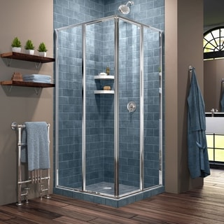 DreamLine Cornerview 34.5 x 34.5-inch Framed Sliding Shower Enclosure