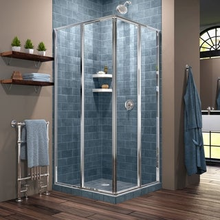DreamLine Cornerview 34 1/2 in. by 34 1/2 in. Framed Sliding Shower Enclosure