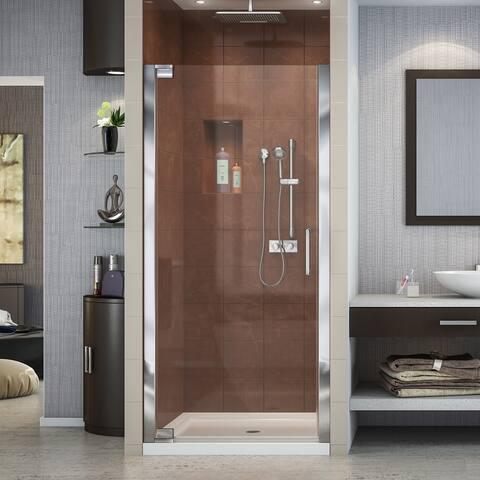 DreamLine Elegance 32 1/4 - 34 1/4 in. W x 72 in. H Frameless Pivot Shower Door - 34.25 in. w x 72 in. h