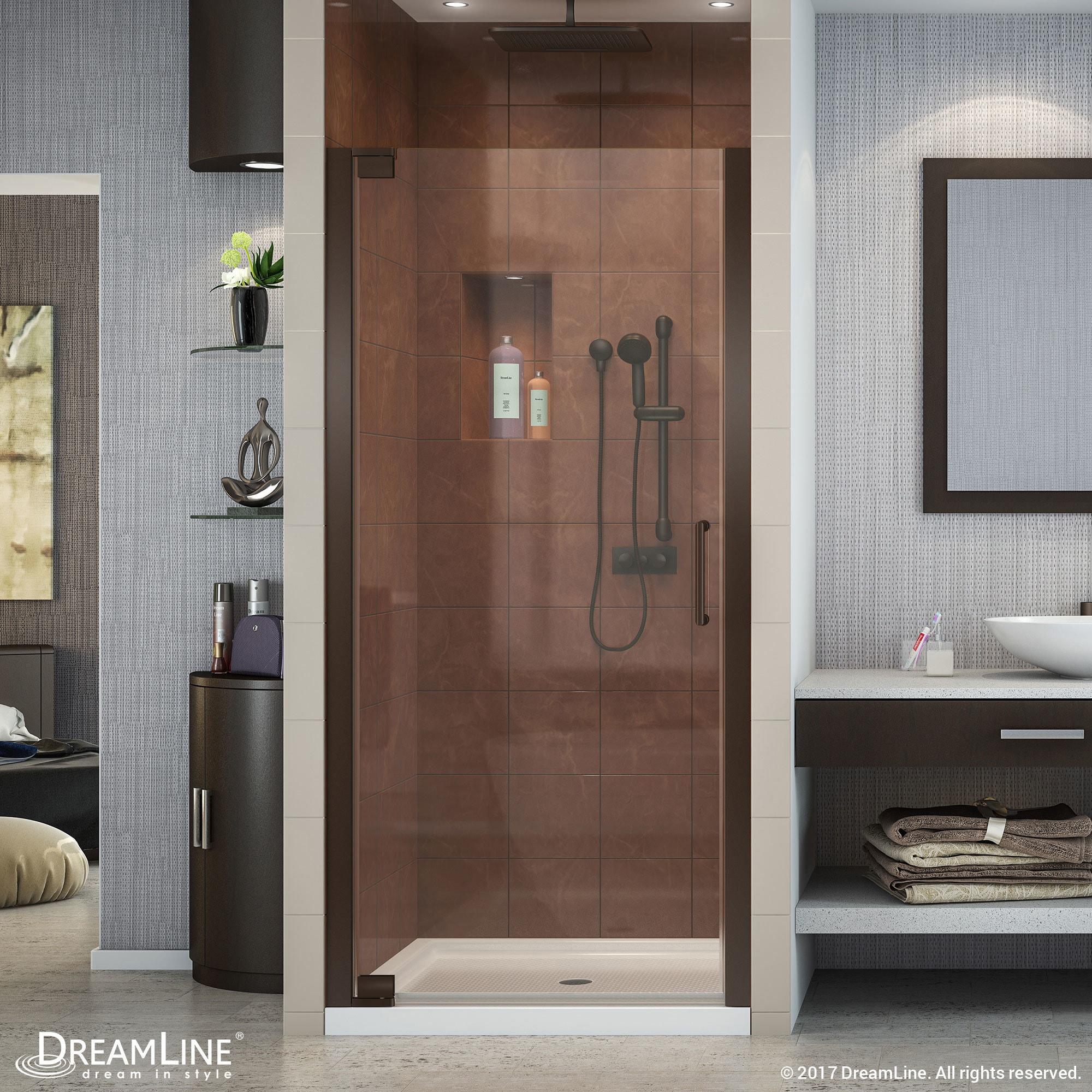 Dreamline Elegance 34 36 In W X 72 H Frameless Pivot Shower Door