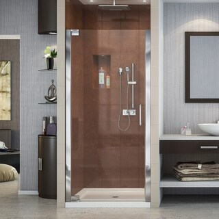 DreamLine Elegance 35 3/4 to 37 3/4 in. Frameless Pivot Shower Door