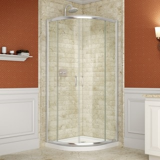 DreamLine Prime 36.375 x 36.375 Clear Frameless Sliding Shower Enclosure