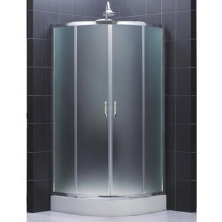 DreamLine Prime 34.375 x 34.375 Frameless Sliding Shower Enclosure