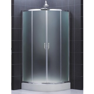 DreamLine Prime 36.375 x 36.375 Frameless Sliding Shower Enclosure