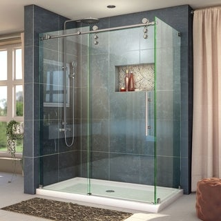 DreamLine Enigma-Z 34 1/2 in. by 60 3/8 in. Fully Frameless Sliding Shower Enclosure (2 options available)